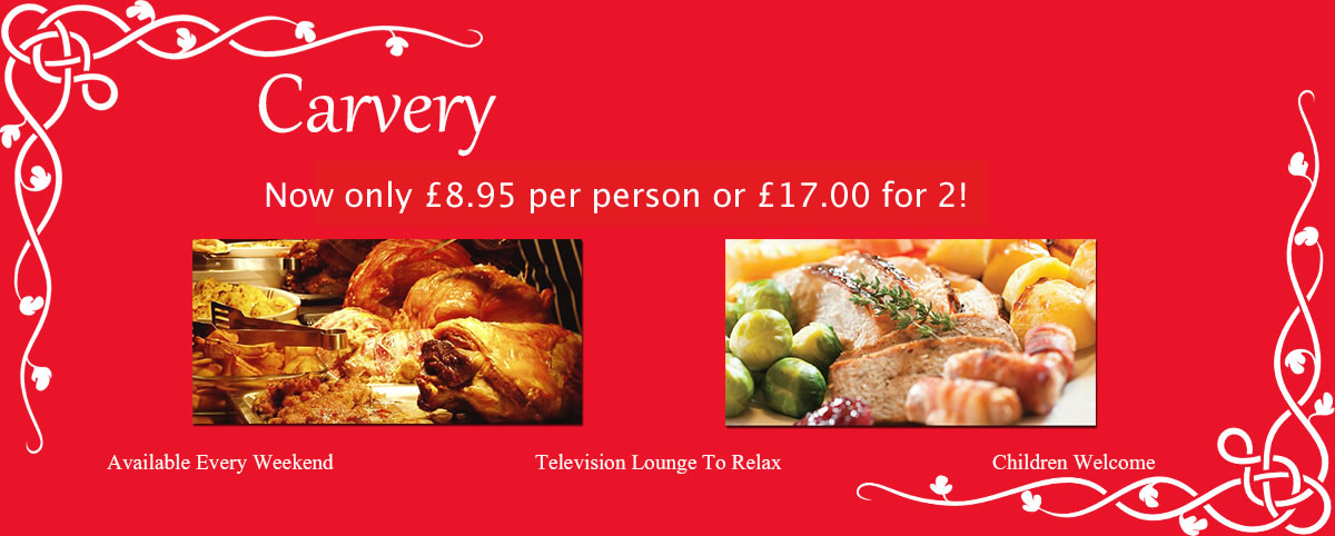 Available Every Weekend Carvery at The Seaward